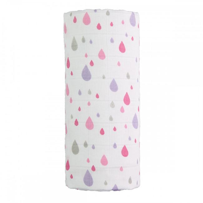 Zobrazit detail výrobku T-tomi Velká bavlněná TETRA osuška 120 x 120 cm Pink drops / růžové kapky
