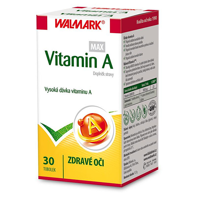 Zobrazit detail výrobku Walmark Vitamín A MAX 30 tob.