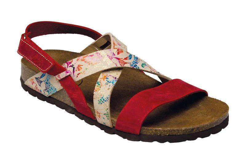 SANTÉ Zdravotní obuv dámská IB/7209 červeno-bílá vel. 37