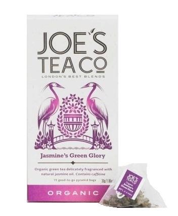 Zobrazit detail výrobku Joe´s Tea Co. Zelený čaj s jasmínem BIO 15 pyramidek