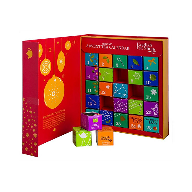 Zobrazit detail výrobku English Tea Shop Adventní kalednář - kniha červená BIO 25 pyramidek