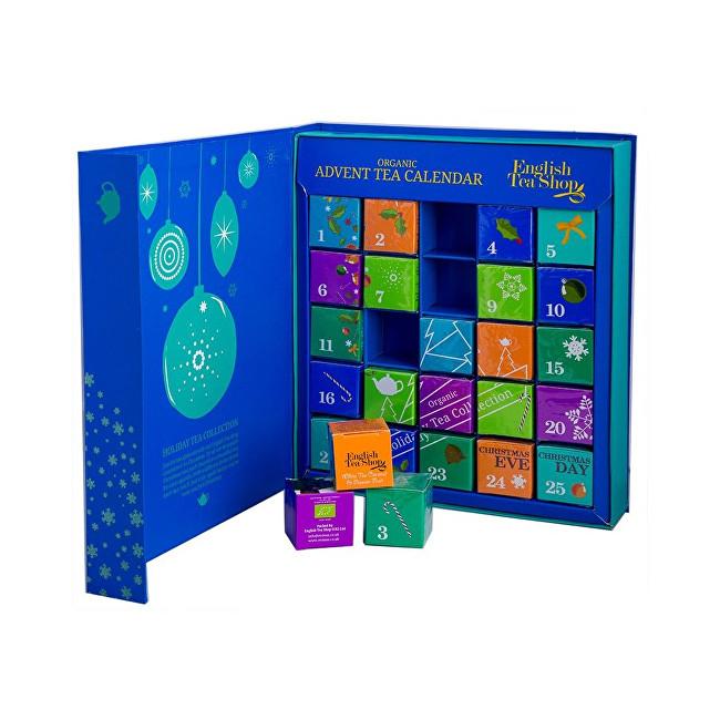 Zobrazit detail výrobku English Tea Shop Adventní kalendář - kniha modrá BIO 25 pyramidek