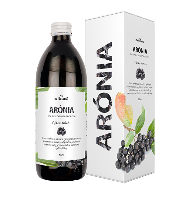 Arónia - 100% šťava z plodov arónie čiernoplodej 500 ml