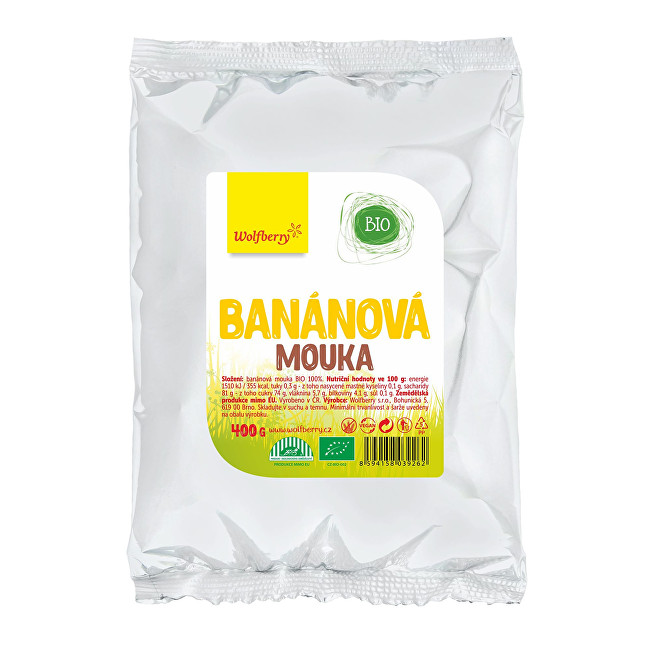 Zobrazit detail výrobku Wolfberry Banánová mouka BIO 400 g