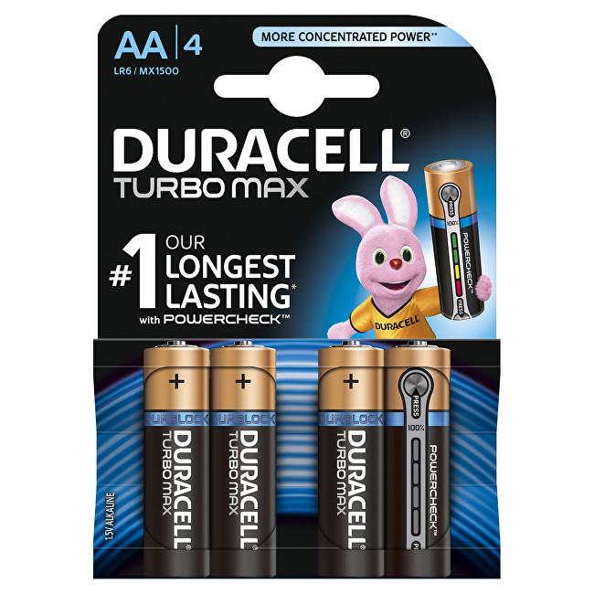 Zobrazit detail výrobku Duracell Baterie Turbo MAX AA 1500 K4 Duralock