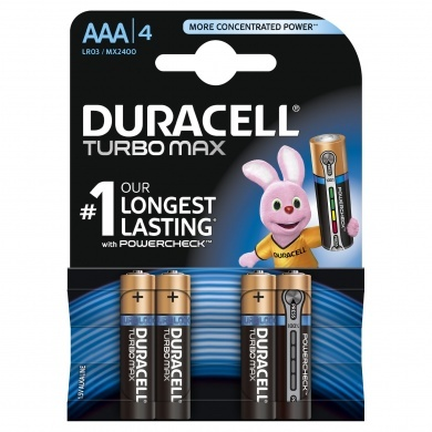 Duracell Baterie Turbo MAX AAA 2400 K4 Duralock