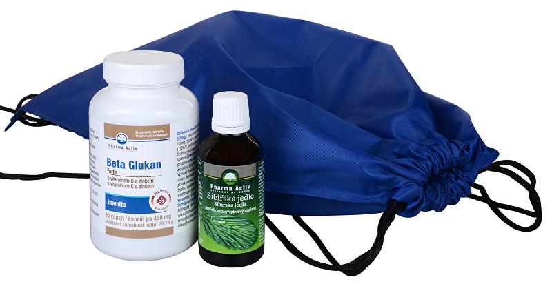 Pharma Activ Batoh Imunita + Beta Glukan FORTE 60 tablet + Sibiřská jedle 50 ml