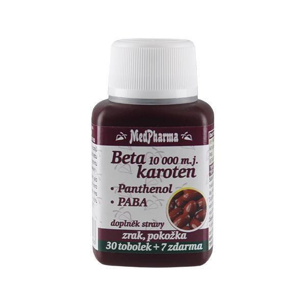 Zobrazit detail výrobku MedPharma Beta karoten 10 000 m.j. + panthenol + PABA 30 tob. + 7 tob. ZDARMA
