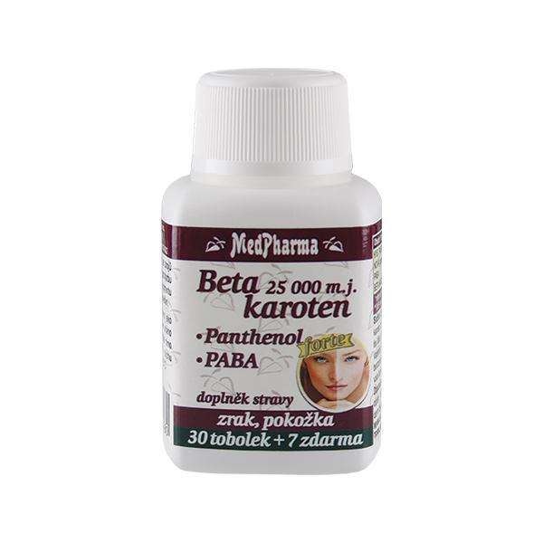 Zobrazit detail výrobku MedPharma Beta karoten 25 000 m.j. + panthenol + PABA 30 tob. + 7 tob. ZDARMA
