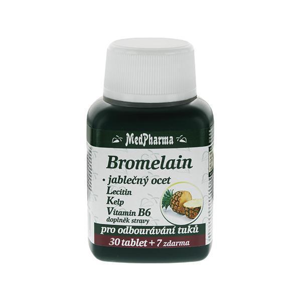 Zobrazit detail výrobku MedPharma Bromelain 300 mg + jablečný ocet + lecitin + kelp + vitamín B6 30 tbl. + 7 tbl. ZDARMA