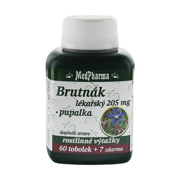 Zobrazit detail výrobku MedPharma Brutnák lékářský 205 mg + pupalka 60 tob. + 7 tob. ZDARMA