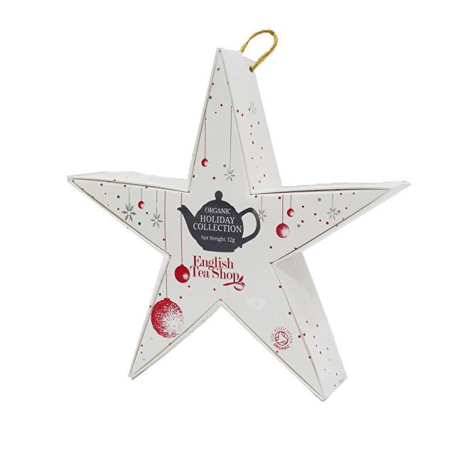 Červená a stříbrná hvězda BIO 6 pyramidek