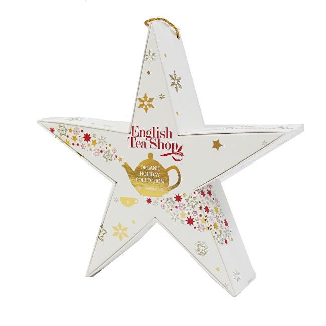 Zobrazit detail výrobku English Tea Shop Červená a zlatá hvězda BIO 6 pyramidek