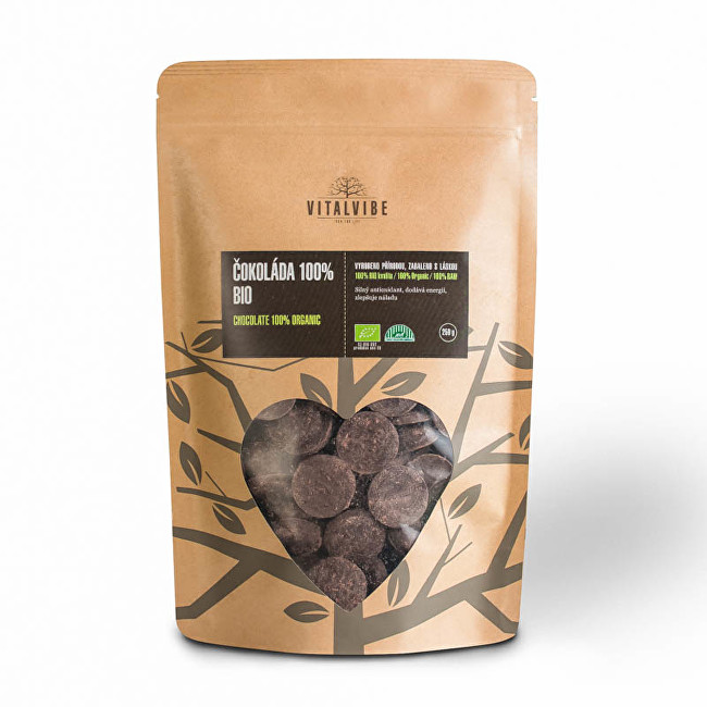 Zobrazit detail výrobku Vitalvibe Čokoláda 100% BIO 250 g