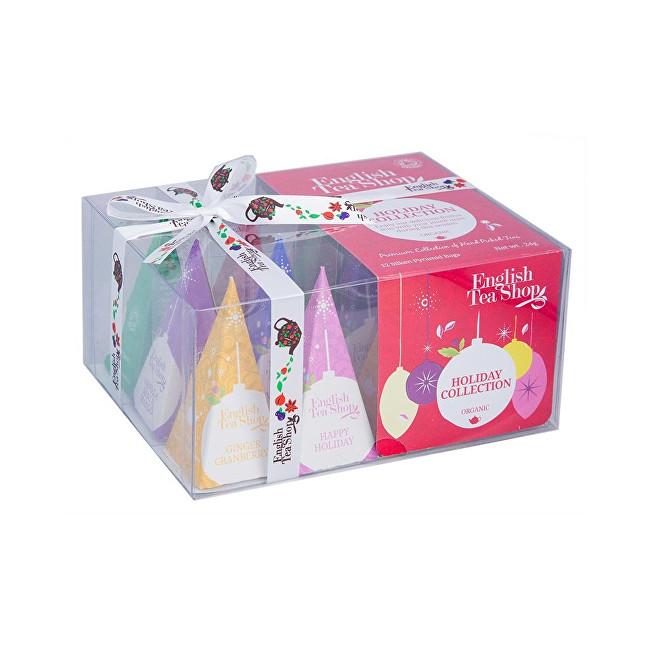 English Tea Shop Dárková vánoční krabička Červené ozdoby BIO 12 pyramidek
