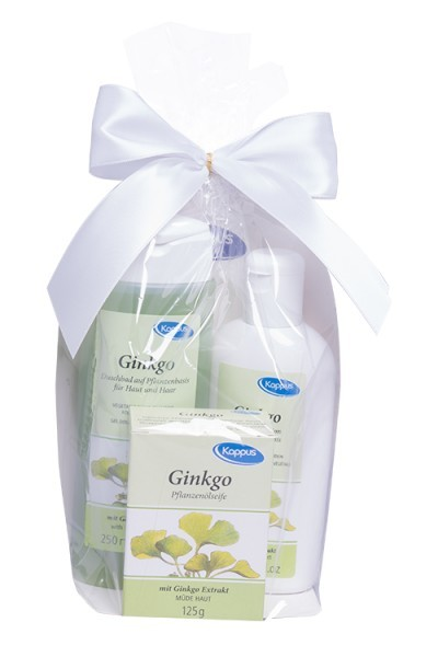Kappus Dárkový balíček Ginkgo (tělový šampon 250 ml, tělové mléko 200 ml, tuhé mýdlo 125 g)
