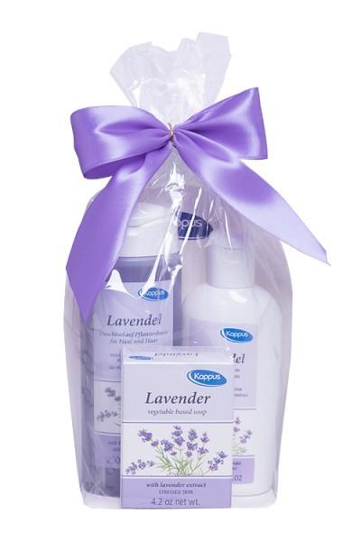 Kappus Dárkový balíček Levandule (tělový šampon 250 ml, tělové mléko 200 ml, tuhé mýdlo 125 g)