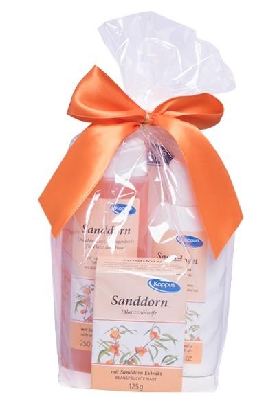 Kappus Dárkový balíček Rakytník (tělový šampon 250 ml, tělové mléko 200 ml, tuhé mýdlo 125 g)