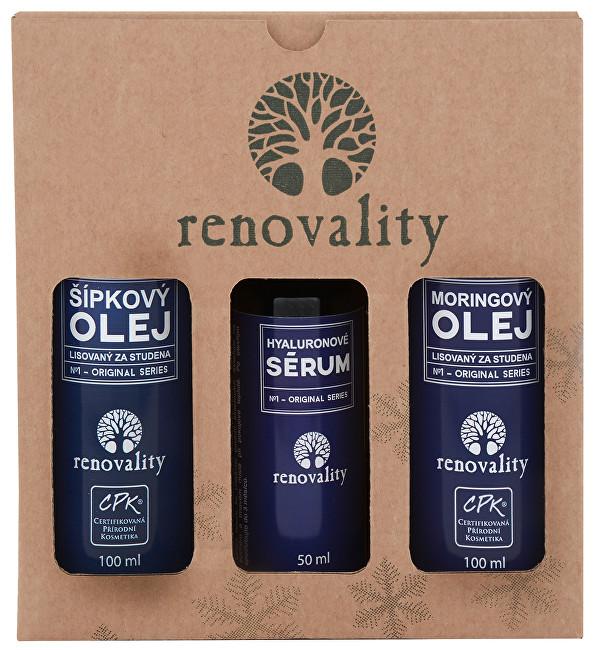 Zobrazit detail výrobku Renovality Dárkový balíček šípek, moringa, hyaluronové sérum