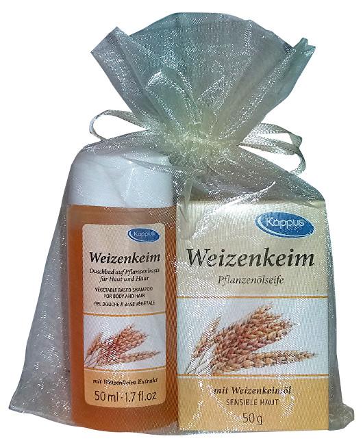 Zobrazit detail výrobku Kappus Dárkový balíček v organze Pšeničné klíčky (tělový šampon 50 ml, tuhé mýdlo 50 g)