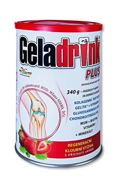 Geladrink Plus Jahoda nápoj 340 g