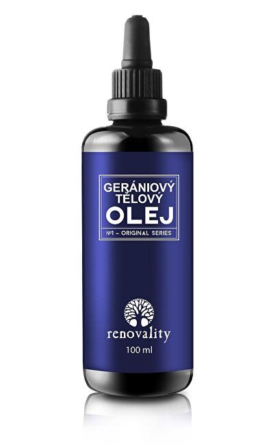 Renovality Gerániový esenciální olej 20 ml s pipetkou
