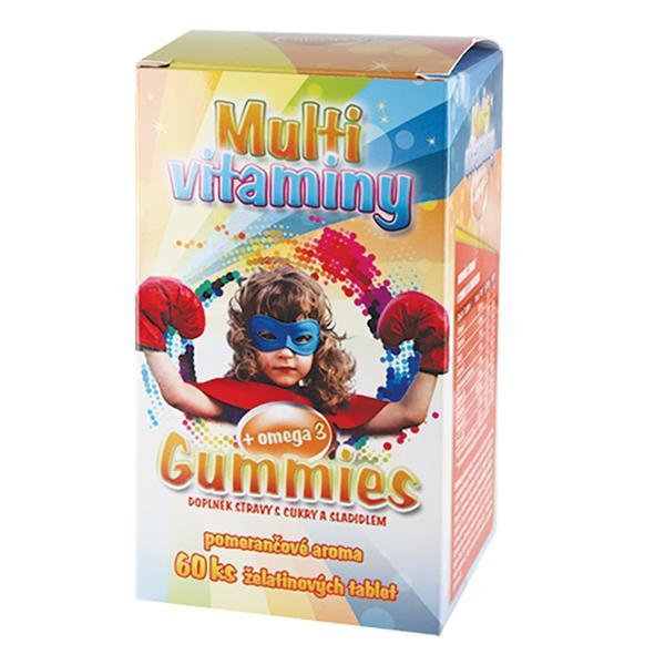 MedPharma Gummies – Multivitaminy + omega 3 pro děti 60 želatinových tbl.
