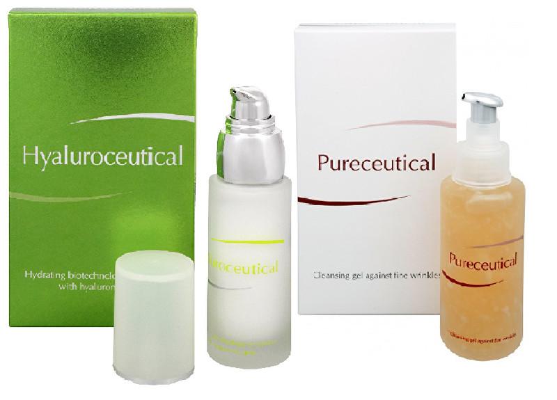 Zobrazit detail výrobku Herb Pharma Hyaluroceutical - hydratační biotechnologická emulze 30 ml + Pureceutical - čistící gel proti jemným vráskám 125 ml