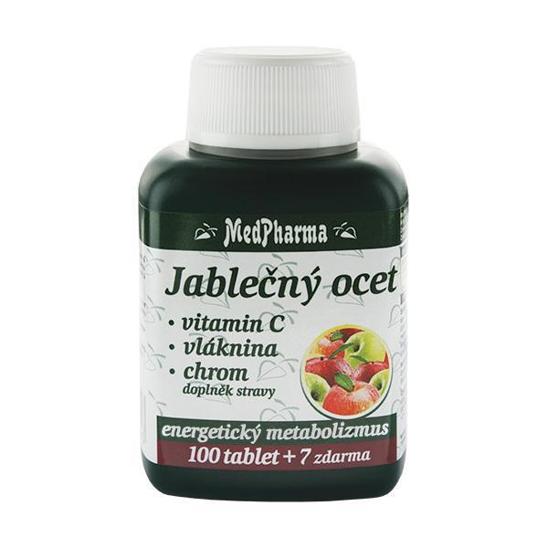 Zobrazit detail výrobku MedPharma Jablečný ocet + vitamín C + vláknina + chrom 100 tbl. + 7 tbl. ZDARMA