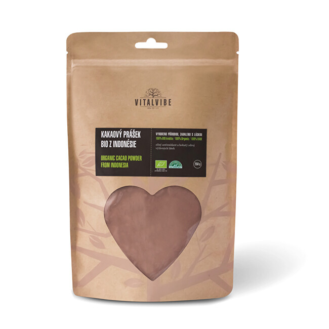 Zobrazit detail výrobku Vitalvibe Kakaový prášek BIO z Indonésie 250 g