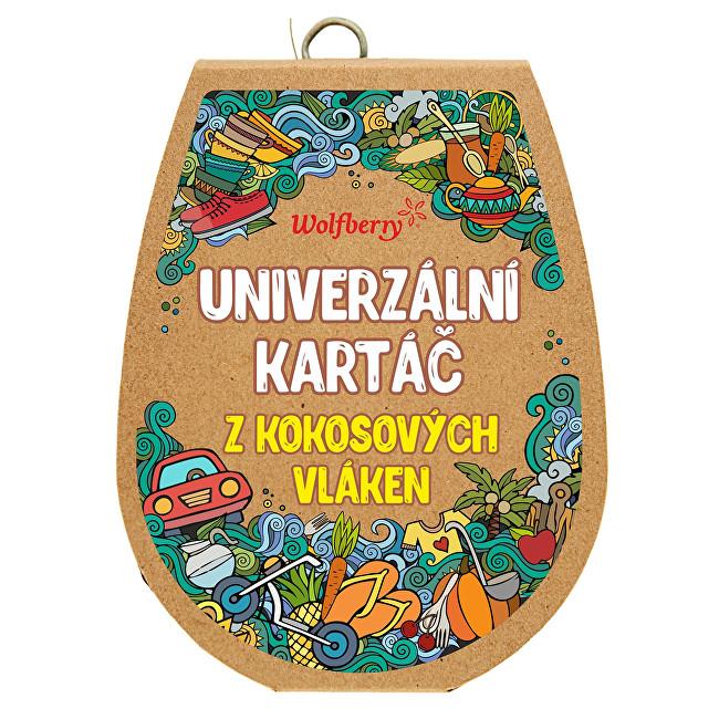 Zobrazit detail výrobku Wolfberry Kartáč z kokosových vláken velký Velký 12 x 9 cm