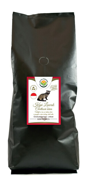 Salvia Paradise Káva - Kopi Luwak - cibetková káva 1000 g