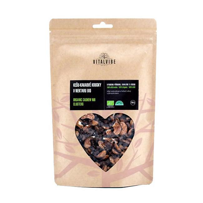 Zobrazit detail výrobku Vitalvibe Kešu-kakaové kousky v nektaru BIO 250 g