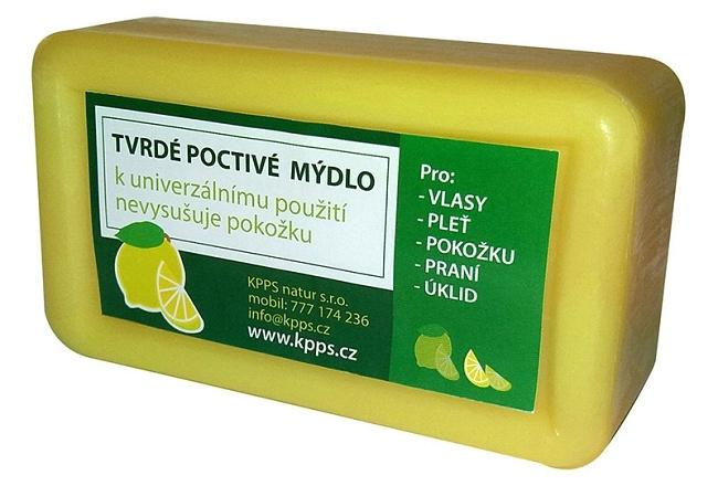 Kappus Koupelové Tvrdé poctivé mýdlo - citron 150 g