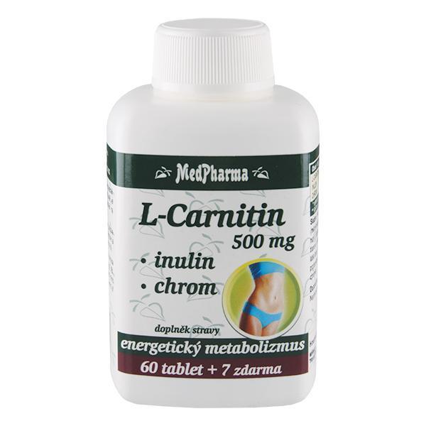 Zobrazit detail výrobku MedPharma L-Carnitin 500 mg + inulin + chrom 60 tbl. + 7 tbl. ZDARMA
