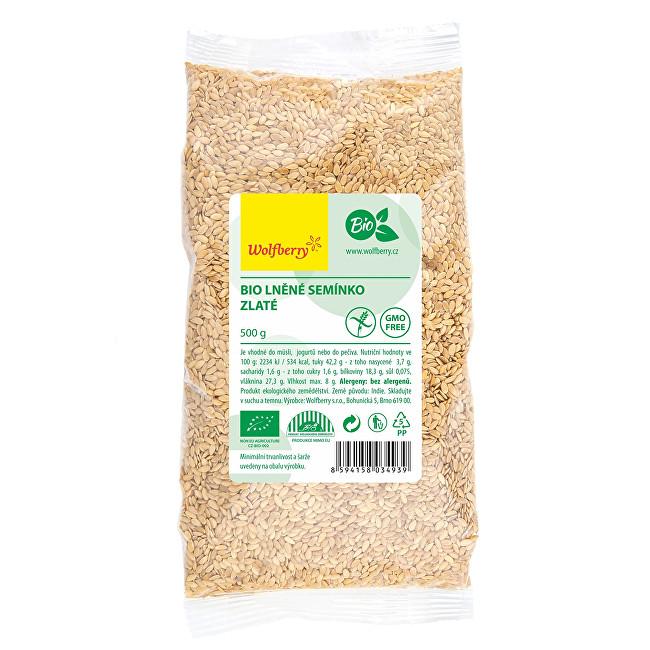 Zobrazit detail výrobku Wolfberry Lněné semínko zlaté BIO 500 g