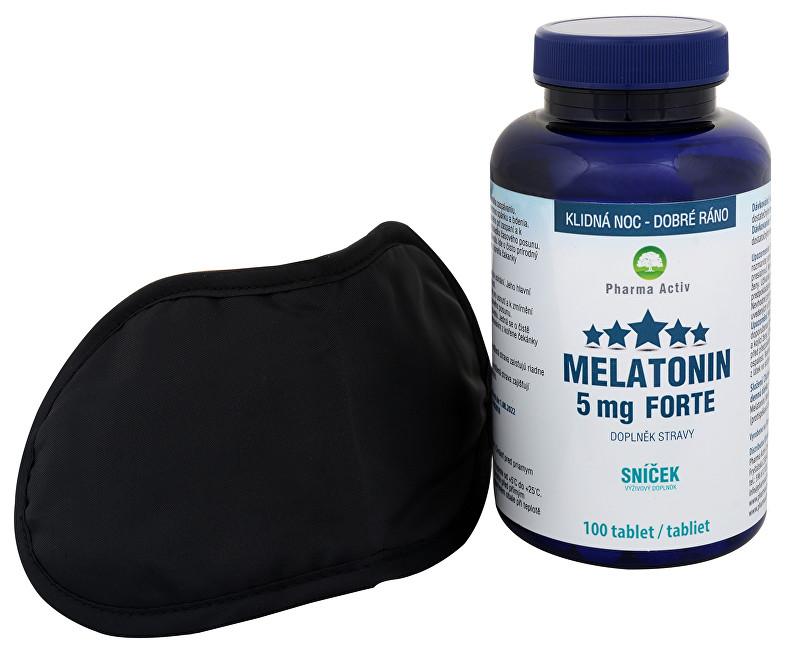 Zobrazit detail výrobku Pharma Activ Melatonin 5 mg Forte 100 tablet + zdarma škraboška