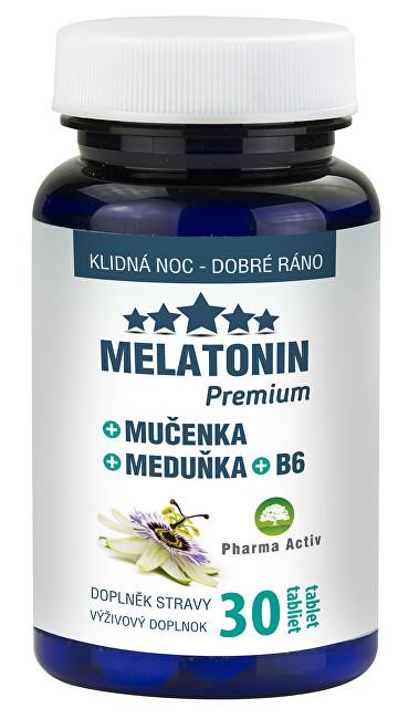 Zobrazit detail výrobku Pharma Activ Melatonin Premium Mučenka Meduňka B6 30 tablet