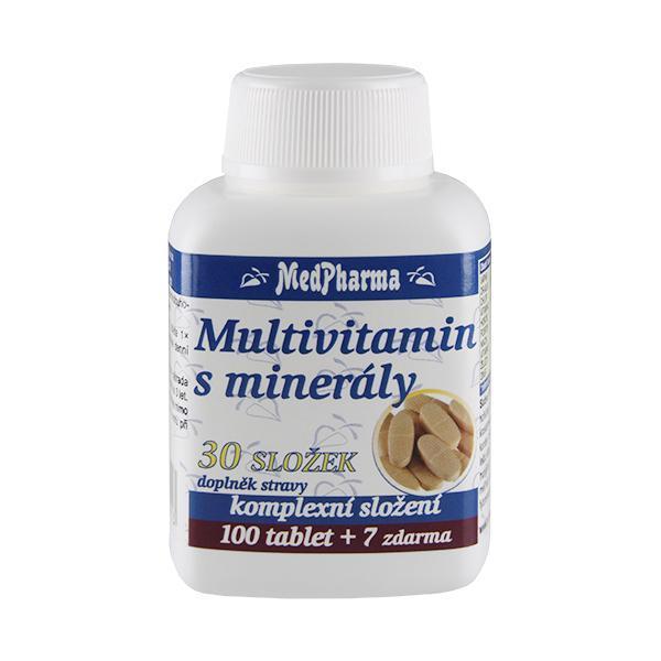 Zobrazit detail výrobku MedPharma Multivitamin s minerály 30 složek 100 tbl. + 7 tbl. ZDARMA