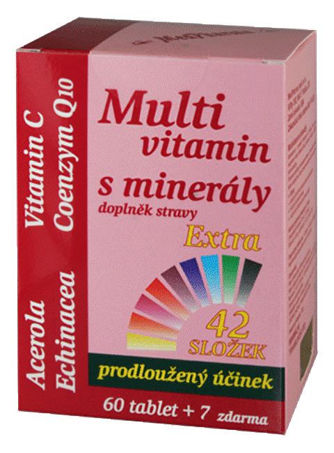 MedPharma Multivitamin s minerály 42 složek, extra C + Q10 60 tbl. + 7 tbl. ZDARMA