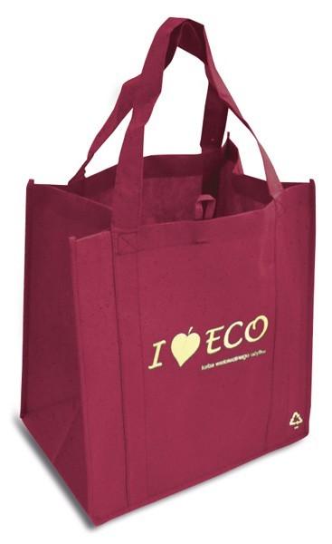 Nákupní taška I Love ECO vínová