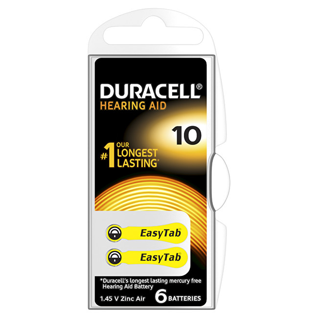 Zobrazit detail výrobku Duracell Naslouchátkové baterie Specialites Hearing Aid 10 6p