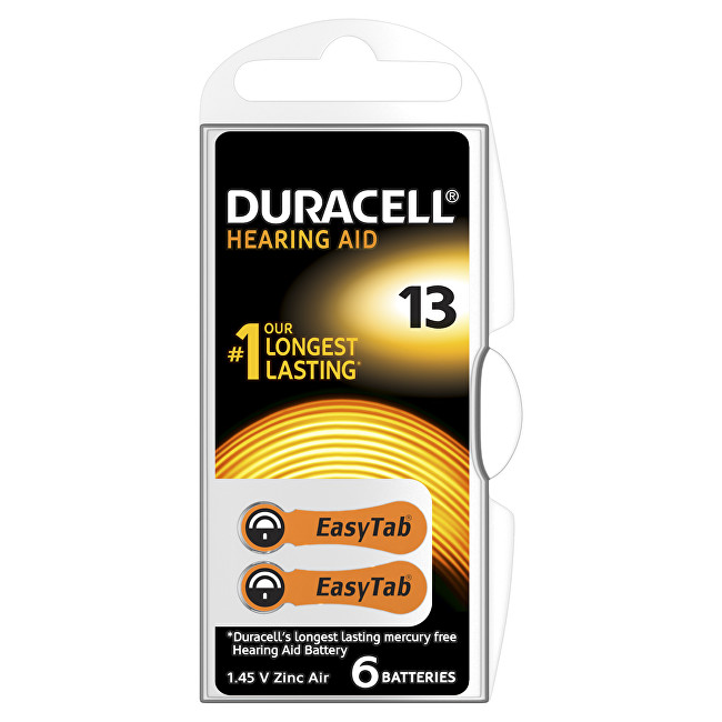 Duracell Naslouchátkové baterie Specialites Hearing Aid 13 6p