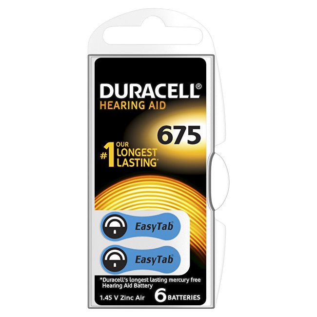 Duracell Naslouchátkové baterie Specialites Hearing Aid 675 6p