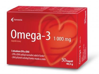 Noventis Omega–3 1000 mg 30 kapslí