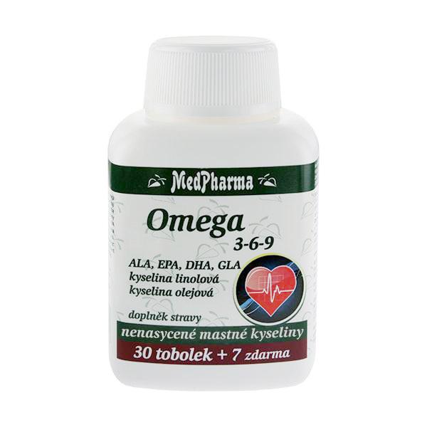 Zobrazit detail výrobku MedPharma Omega 3-6-9 30 tob. + 7 tob. ZDARMA