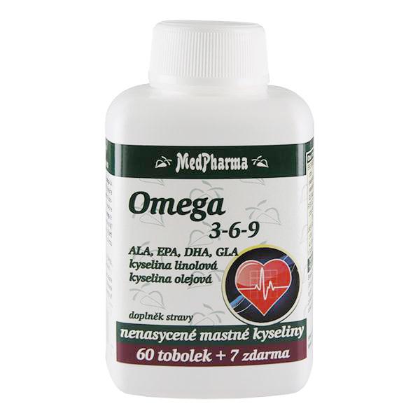Zobrazit detail výrobku MedPharma Omega 3-6-9 60 tob. + 7 tob. ZDARMA