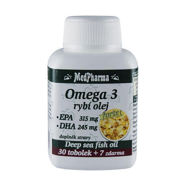 Zobrazit detail výrobku MedPharma Omega 3 Rybí olej Forte (EPA 315 mg + DHA 245 mg) 30 tob. + 7 tob. ZDARMA