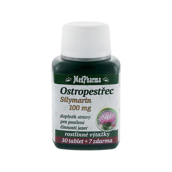 Zobrazit detail výrobku MedPharma Ostropestřec silymarin 100 mg 30 tbl. + 7 tbl. ZDARMA