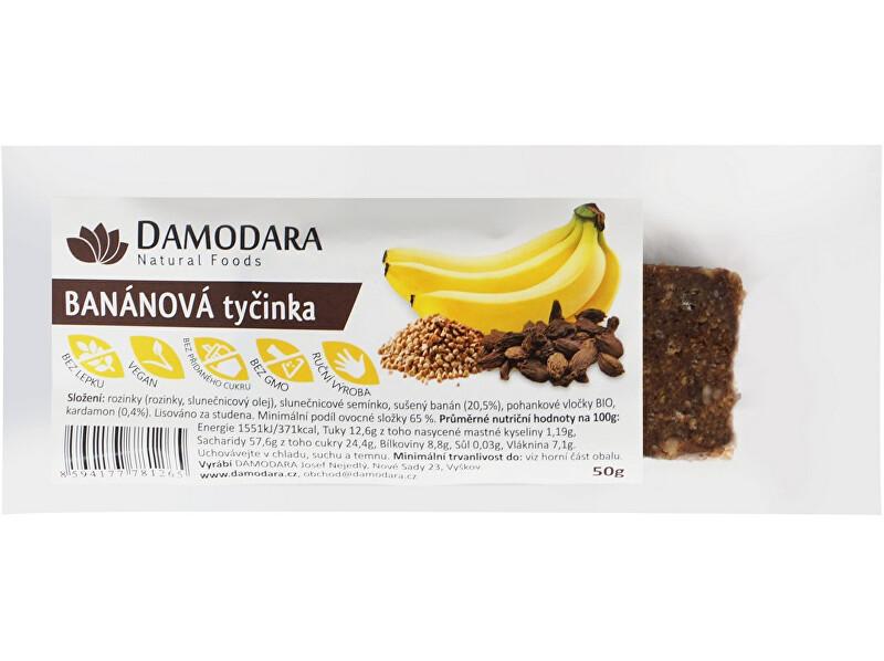 Zobrazit detail výrobku Damodara Ovocná tyčinka banánová s kardamonem 50g
